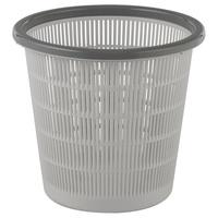 Корзина для мусора 9 л пластик серая (28x25,5 см)