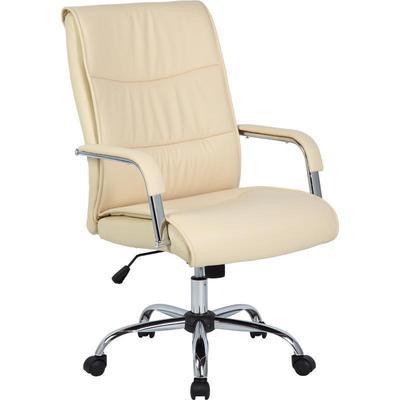 Уценка. Кресло для руководителя Easy Chair 509 TPU бежевое (искусственная кожа/металл). уц_меб