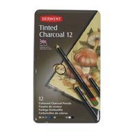 Набор карандашей угольных 12шт тониров метал кор Tinted Charcoal