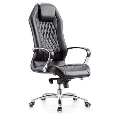 Кресло для руководителя Бюрократ Aura черное (натуральная кожа, металл)
