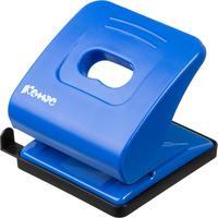Дырокол Комус Prima 6345 до 30 листов синий с линейкой