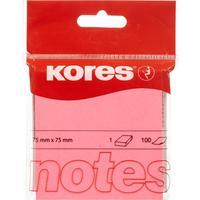 Стикеры Kores 75x75 мм неоновые розовые (1 блок, 100 листов)