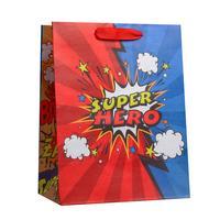 Пакет подарочный из крафт-бумаги Супер герой MS (23x18x10 см, 6 штук в упаковке)