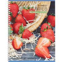Тетрадь общая Тетрапром Сладкая ягода А4 80 листов в клетку на спирали (обложка в ассортименте)