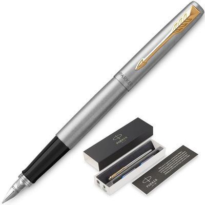 Уценка. Ручка перьевая Jotter FP Stainless steel CT цвет чернил синий цвет корпуса серебристый (артикул производителя 2030948)
