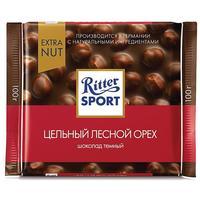 Шоколад Ritter Sport горький с цельным лесным орехом 100 г