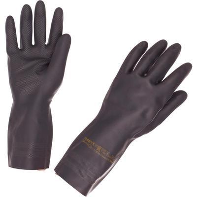 Перчатки КЩС Ansell Неотоп 29-500 из неопрена черные (размер 10, XL)