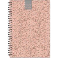 Бизнес-тетрадь Attache Fleur Коралл A5 96 листов разноцветная в точку на спирали (145x203 мм)