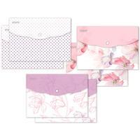 Папка-конверт на кнопке Attache Selection Flower Dreams A5 180 мкм (6 штук в упаковке)