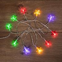 Гирлянда светодиодная Neon-Night Звездочки линия разноцветный свет 10 светодиодов (1.5 м)