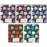 Тетрадь школьная Канц-Эксмо Веселый орнамент А5 12 листов в линейку на скрепке (обложка в ассортименте)