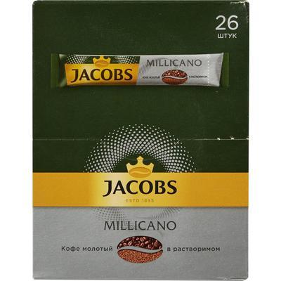 Кофе порционный растворимый Jacobs Monarch Millicano 26 пакетиков по 1.8 г