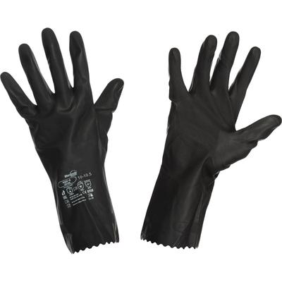 Перчатки Manipula КЩС-2 L-U-032/CG-943 латексные черные (размер 10-10.5,  XL)