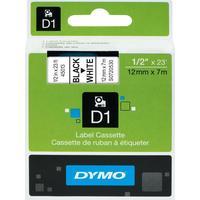 Картридж для принтера этикеток DYMO S0720530 D1 (12 мм x 7 м, цвет ленты белый, шрифт черный)
