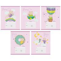 Тетрадь школьная Канц-Эксмо Путешествие кота А5 12 листов в клетку на скрепке (обложка в ассортименте)