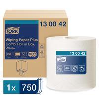 Протирочная бумага Tork 130042 W1/W2/W3 белая (255 метров в рулоне)