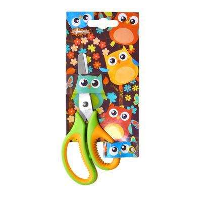 Ножницы детские №1 School Веселые совята (135 мм, с эргономичными ручками)