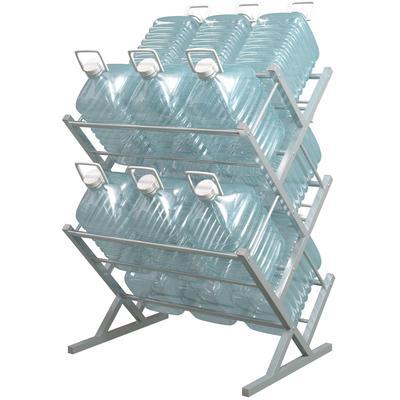 Стеллаж для бутилированной воды Стилс-15 на 15 тар по 5/6л серый металлик