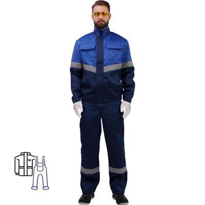 Костюм рабочий летний мужской л25-КПК с СОП синий/васильковый (размер 44-46, рост 182-188)