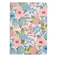 Бизнес-тетрадь Be Smart Retro flowers A5 48 листов разноцветная в клетку на скрепке (150x210 мм)