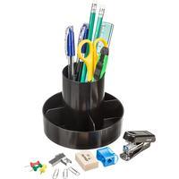 Набор настольный Attache Economy пластиковый 14 предметов черный 5 отделений