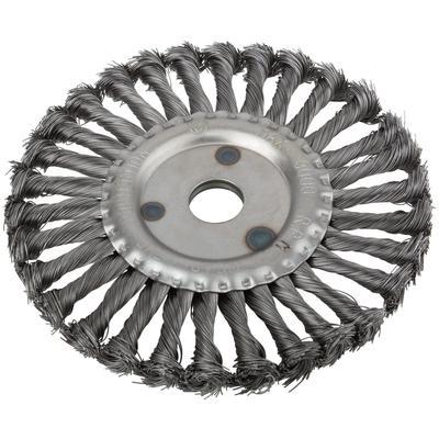 Корщетка-колесо, витая 180 мм  FIT (39108)