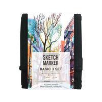 Набор маркеров Sketchmarker Basic 3 12 цветов