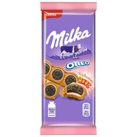 Шоколад Milka молочный с печеньем Oreo со вкусом клубники 92 г