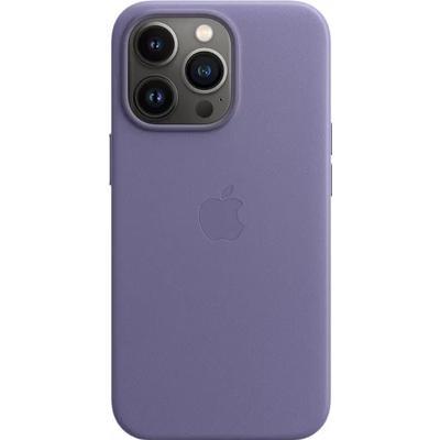 Чехол накладка Apple Leather Case MagSafe для Apple iPhone 13 Pro  сиреневый (MM1F3ZE/A)