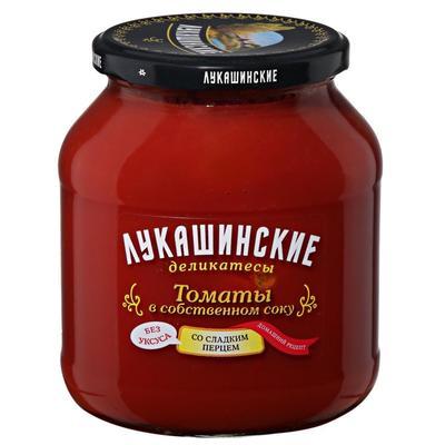 Томаты Лукашинские по-домашнему со сладким перцем 670 г