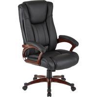 Кресло для руководителя Easy Chair 632 TR черное (рециклированная кожа, пластик)