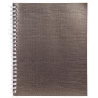 Бизнес-тетрадь Hatber Metallic А5 48 листов коричневая в клетку на спирали (148x210 мм)