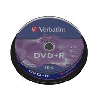 Диск DVD+R Verbatim 4,7 GB 16x (10 штук в упаковке)
