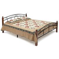 Кровать AT-8077 (черная/красный дуб, 1400х2100х910 мм)