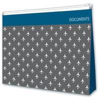 Папка-конверт на молнии Escalada A4+ серая 300 мкм