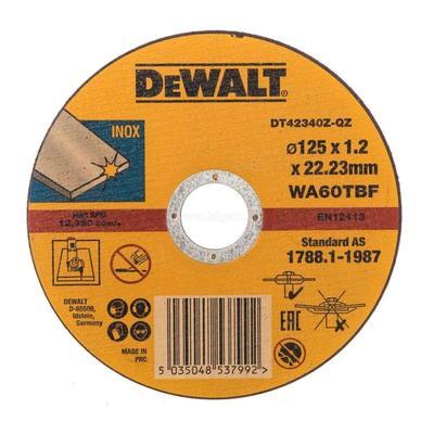 Круг отрезной по металлу 125х1.2 мм INDUSTRIAL DeWalt DT4234