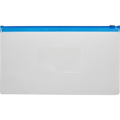Папка-конверт на zip-молнии Attache 265x148 мм синяя 150 мкм