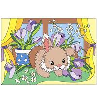 Картина по номерам Lori Пушистый зайка