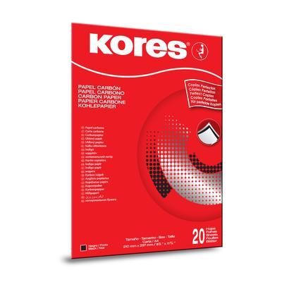 Бумага копировальная черная Kores 1200 (А4, 20 листов)