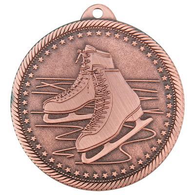 Медаль призовая Фигурное катание 50 мм бронзовая