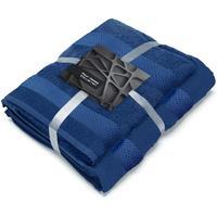 Набор полотенец махровых Конфетти 50x90 см 1 штука 70х130 см 1 штука 390 г/кв.м синие