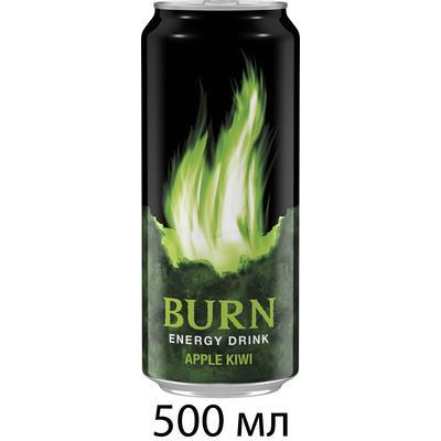 Напиток энергетический Burn Apple-Kiwi 0.5 л (12 штук в упаковке)