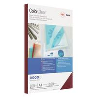 Обложки для переплета пластиковые GBC А4 180 мкм красные глянцевые (100 штук в упаковке)