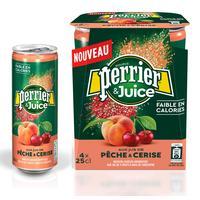 Напиток Perrier газированный с соком персик-вишня 0.25 л (4 штуки в упаковке)