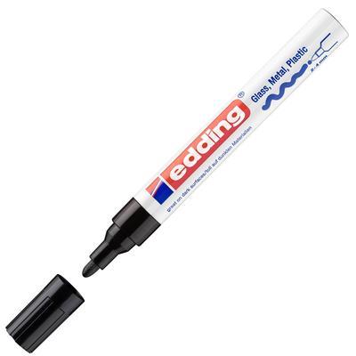 Маркер промышленный Edding E-750/1 для универсальной маркировки черный (2-4 мм, выдерживает кипячение)