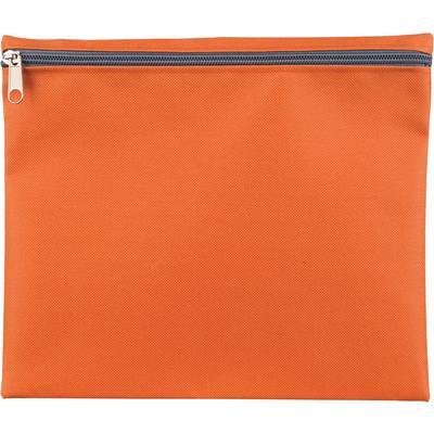Папка-конверт на молнии Attache Fantasy А5 оранжевая 150 мкм