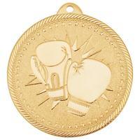 Медаль призовая Бокс 50 мм золотистая