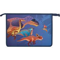 Папка для тетрадей №1 School Мир динозавров А4 на молнии