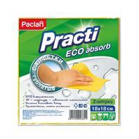 Салфетки хозяйственные губчатые Paclan Practi целлюлоза 18x18 см 2 штуки в упаковке