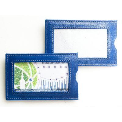 Картхолдер Grand на 10 визиток из натуральной кожи синего цвета (02-037-0662)